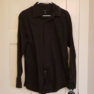 Mens Black Casual ButtonUp Shirt